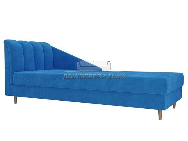 Кушетка левая Астер, голубой/велюр - купить за 21300 руб. в Санкт-Петербурге (арт. B10027071)   Дом мебели Скай