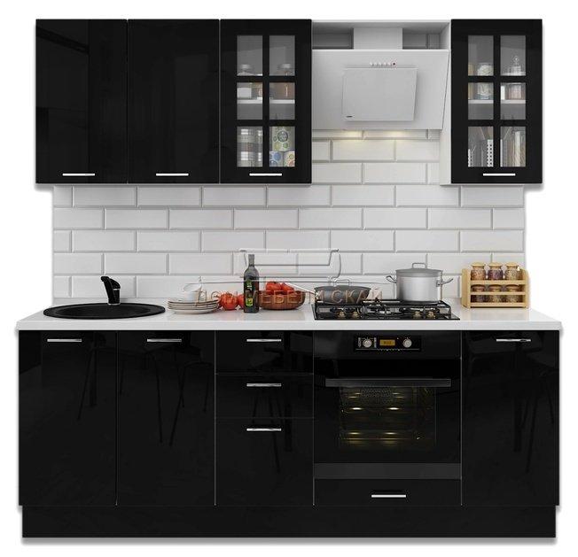 Кухня Модерн 2200, черный глянец - купить за 37990 руб. в Санкт-Петербурге   Дом мебели Скай